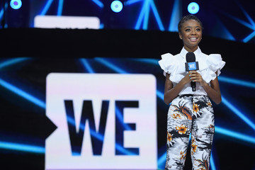 Skai Jackson Celebs Attend WE Day New York Welcome to Celebrate Young People Changing the World