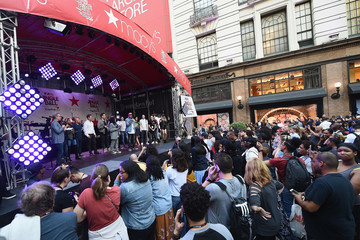 Skeery Jones iHeartRadio's Z100 Jingle Ball Official Kick-Off Event At Macy's Herald Square On October 9, 2018 In New York City