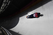 Jerry Rice of Great Britain slides during the Men's Skeleton heats at Olympic Sliding Centre on February 16, 2018 in Pyeongchang-gun, South Korea.