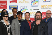 Xavier Naidoo and the band Soehne Mannheims attend the Radio Regenbogen Award 2015 at Europapark on April 24, 2015 in Rust, Germany.