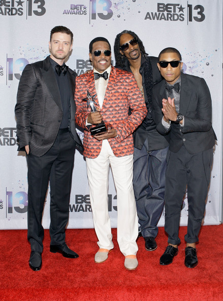 Backstage at the BET Awards