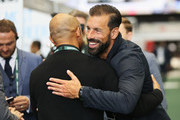Ruud van Nistelrooy greets a guest during day 1 of the Soccerex Global Convention at Manchester Central Convention Complex on September 4, 2017 in Manchester, England.