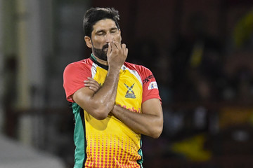 Sohail Tanvir Guyana Amazon Warriors vs. Trinbago Knight Riders - 2018 Hero Caribbean Premier League (CPL) Tournament