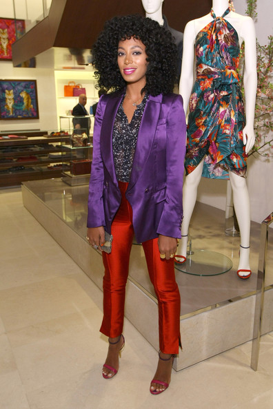 Solange Knowles - Ferragamo Fifth Avenue Flagship Re-Opening