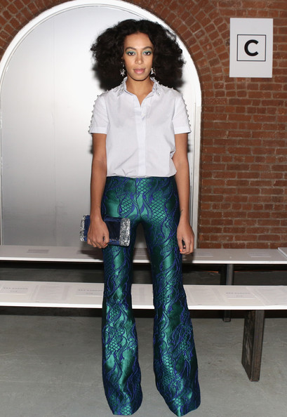 Solange Knowles - Front Row at the Wes Gordon Show