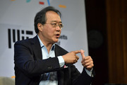 Yo-Yo Ma speaks at the 'Solve At MIT:  Opening Plenary - The Heart Of The Machine: Bringing Humanity Back Into Technology' at Massachusetts Institute of Technology on May 16, 2018 in Cambridge, Massachusetts.
