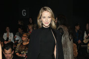 Actress Olivia Jordan attends the Son Jung Wan Fall 2016 fashion show during New York Fashion Week: The Shows at The Dock, Skylight at Moynihan Station on February 13, 2016 in New York City.