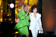 Patti LaBelle and Carole Bayer Sager perform onstage during the Songwriters Hall Of Fame 50th Annual Induction And Awards Dinner  at The New York Marriott Marquis on June 13, 2019 in New York City.