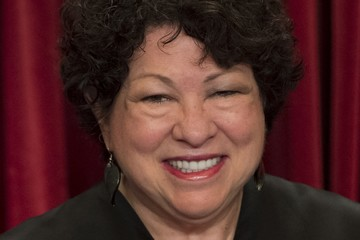 Sonia Sotomayor U.S. Supreme Court Justices Pose for Formal Portrait