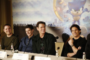 "Producer Toby Ascher, Director Jeff Fowler, Jim Carrey and James Marsden speak onstage during the ""Sonic The Hedgehog"" Parent Blogger / Influencer Conference featuring James Marsden, Ben Schwartz & Jim Carrey with host Heather Brooker at the Four Seasons Los Angeles at Beverly Hills on January 24, 2020 in Los Angeles, California."