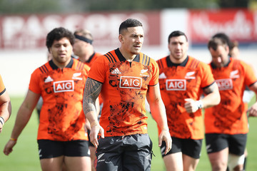Sonny Bill Williams New Zealand All Blacks Training Session