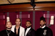 Aston Merrygold, Marvin Humes, JB Gill and Oritse Williams of JLS attend the Sony BRITs after-party at The Standard on February 18, 2020 in London, England.