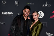 Alex Oxlade-Chamberlain and Perrie Edwards attend the Sony Music BRITs After Party at The Aqua Shard on February 20, 2019 in London, England.