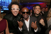 (L-R) Singer Ian Axel of A Great Big World, chairman and CEO of Epic Records Antonio L.A. Reid and musician Chad Vaccarino of A Great Big World attend the Sony Music Entertainment 2015 Post-Grammy Reception at The Palm on February 8, 2015 in Los Angeles, California.
