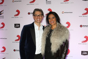President of Sony Music U.S. Latin Nir Seroussi (L) andÊsinger Lila Downs attend Sony Music's Latin Grammy after party at XS The Nightclub at Encore Las Vegas on November 20, 2014 in Las Vegas, Nevada.