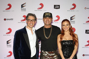 (L-R) President of Sony Music U.S. Latin Nir Seroussi, rapper Wisin and his wife Yomarira Ortiz attend Sony Music's Latin Grammy after party at XS The Nightclub at Encore Las Vegas on November 20, 2014 in Las Vegas, Nevada.Ê