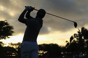 Justin Thomas of the United States plays a shot during a practice round ahead of the Sony Open In Hawaii at Waialae Country Club on January 9, 2019 in Honolulu, Hawaii.