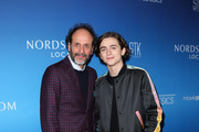 Director Luca Guadagnino (L) and Actor Timothee Chalamet (R) attend the Sony Pictures Classics Oscar nominees dinner on March 3, 2018 in Los Angeles, California.