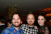 (L-R) Director James Ponsoldt, actor Aaron Paul, and actress Mary Elizabeth Winstead attend the Sony Pictures cocktail hour during the 2012 Toronto International Film Festival at the Creme Brasserie on September 8, 2012 in Toronto, Canada.