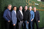 (L-R) Martin Kove, Ralph Macchio, Hayden Schlossberg, Jon Hurwitz, Josh Heald and William Zabka attend Sony Pictures Television's Emmy FYC Event 2019 'Toast to the Arts' on May 04, 2019 in Los Angeles, California.