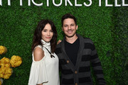 "Actors Abigail Spencer (L) and Matt Lanter, stars of the new Sony Pictures Television series ""Timeless"", attends the Sony Pictures Television LA Screenings Party on May 24, 2017 in Los Angeles, California."