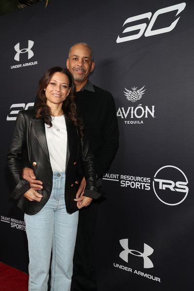 Tequila Avion hosts NBA All-Star After Party Presented by Talent Resources [premiere,suit,event,carpet,flooring,formal wear,dell curry,sonya curry,tequila avion,talent resources,l-r,beverly hills,california,nba all-star after party]