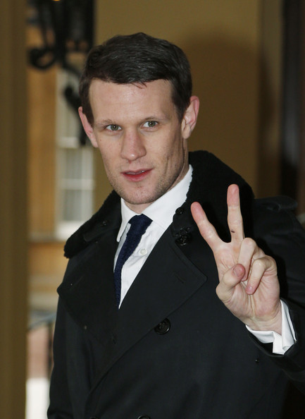 British actor Matt Smith, the eleventh incarnation of the Doctor role in the BBC One British television series 'Doctor Who', poses for the photographers as he arrives for a reception to mark the 50th anniversary of the hit TV series at Buckingham Palace on November 18, 2013 in London, England. Sophie, Countess of Wessex hosted a reception to mark the 50th anniversary of the TV series in which there have been 11 Doctors to date. It now holds the Guinness World Record for the longest running science fiction series in the world.