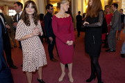 Sophie, Countess of Wessex (C) is seen with Jenna Coleman currently in the role of 'Clara Oswald' (L) in the BBC One British television series 'Doctor Who' and and Catherine Tate (R) during a reception to mark the 50th anniversary of the hit TV series at Buckingham Palace on November 18, 2013 in London, England. Sophie, Countess of Wessex hosted a reception to mark the 50th anniversary of the TV series in which there have been 11 Doctors to date. It now holds the Guinness World Record for the longest running science fiction series in the world.