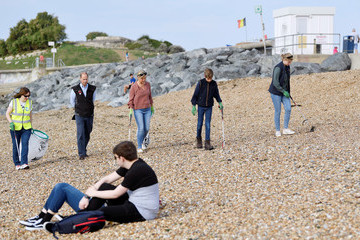 Sophie Earl Of Wessex The Earl And Countess Of Wessex Take Part In A Great British Beach Clean