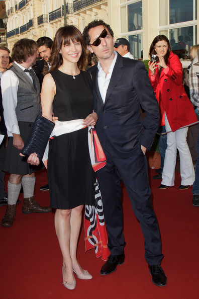 26th Cabourg Film Festival - June 16th [red carpet,premiere,event,carpet,fashion,dress,suit,flooring,formal wear,actors,sophie marceau,gad elmaleh,l-r,cabourg,france,cabourg film festival,26th cabourg romantic film festival]