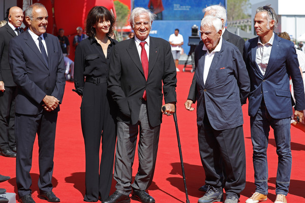 Golden Lion For Jean Paul Belmondo Followed By 'Le Voleur' Premiere - 73rd Venice Film Festival [red carpet,red,carpet,event,premiere,suit,flooring,jean paul belmondo,guests,sophie marceau,alberto barbera,sala grande,l-r,venice,golden lion,le voleur premiere - 73rd,venice film festival]