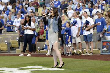 Sophie Simmons Milwaukee Brewers v Los Angeles Dodgers