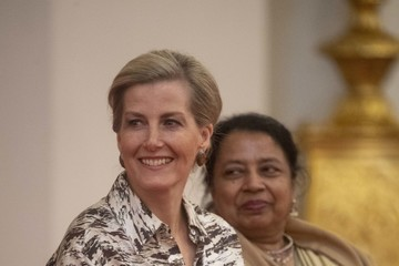 Sophie The Countess Of Wessex Hosts Reception For Women Peacebuilders On International Women's Day 2019