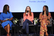 """(L-R) Dr. Alfiee Breland-Noble, Felicia Day, and Lizzy Mathis speak onstage during SoulPancake's """"Four Conversations about One Thing"""" at Hammer Museum on May 29, 2019 in Los Angeles, California."""