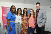 """(L-R) Dr. Alfiee Breland-Noble, Brooke Burke, Lizzy Mathis, Felicia Day, and Tom Riles attend SoulPancake's """"Four Conversations about One Thing"""" at Hammer Museum on May 29, 2019 in Los Angeles, California."""