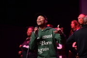 Pharrell Williams performs onstage during Soundcheck: A Netflix Film and Series Music Showcase on November 04, 2019 in Los Angeles, California.