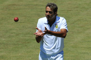 Imran Tahir of South Africa in the field during day three of the third Test match between South Africa and Sri Lanka at Sahara Park Newlands on January 5, 2012 in Cape Town, South Africa.