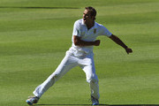 Imran Tahir of South Africa celebrates after claiming the wicket of Kumar Sangakkara of Sri Lanka for 34 runs during day three of the third Test match between South Africa and Sri Lanka at Sahara Park Newlands on January 5, 2012 in Cape Town, South Africa.
