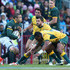 Trevita Kuridrani Photos - Bryan Habana of South Africa takes on Adam Ashley-Cooper and Trevita Kuridrani (R) during The Rugby Championship match between the  South African Springboks and the Australian Wallabies at Newlands Stadium on September 27, 2014 in Cape Town, South Africa. - South Africa v Australia - The Rugby Championship