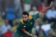 Imran Tahir of South Africa bowls during the 1st ODI match between South Africa and New Zealand at SuperSport Park on August 19, 2015 in Centurion, South Africa.
