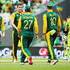 David Miller Kyle Abbott Photos - Kyle Abbott of South Africa celebrates with AB de Villiers, Rilee Rossouw and David Miller of South Africa after claiming the wicket of Sohaib Maqsood of Pakistan during the 2015 ICC Cricket World Cup match between South Africa and Pakistan at Eden Park on March 7, 2015 in Auckland, New Zealand. - South Africa v Pakistan - 2015 ICC Cricket World Cup