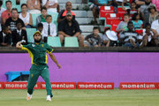 Imran Tahir fields during the 2nd ODI between South Africa and Sri Lanka at Sahara Stadium Kingsmead on February 01, 2017 in Durban, South Africa.