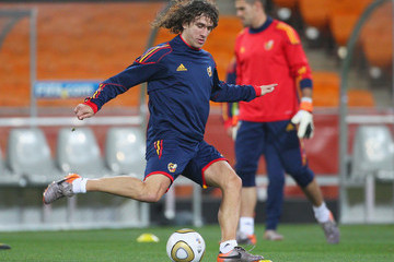 Carlos Puyol Spain Training - 2010 FIFA World Cup