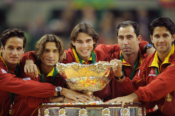 David Ferrer Albert Costa Spain v Czech Republic - Davis Cup World Group Final - Day Three