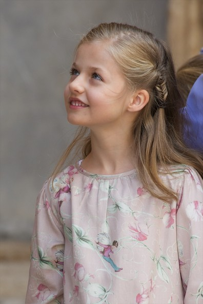 Princess Leonor of Spain attends the Easter Mass at the Cathedral of Palma de Mallorca on April 20, 2014 in Palma de Mallorca, Spain.