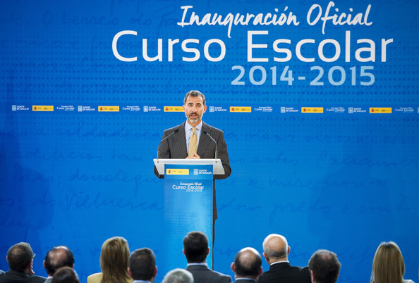 King Felipe VI of Spain Attend the Opening of the School Courses on September 16, 2014 in Orense, Spain.
