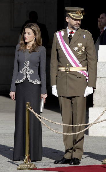 Spanish Royals Celebrate New Year's Military Parade 2013 - Pictures