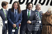(L-R) Jualian Lopez 'El Juli', Tomatito, Rafael Amargo, Lorenzo Caprile and actress Magui Mira attends the Gold Medals of Merit in Fine Arts 2016 ceremony at the Pompidou Center on February 6, 2018 in Malaga, Spain.