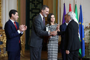 Enrique Sobejano receives the Gold Medal of Merit in Fine Arts 2017 from King Felipe VI of Spain and Queen Letizia of Spain on February 18, 2018 in Cordoba, Spain.