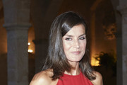 Queen Letizia of Spain hosts a dinner for authorities at the Almudaina Palace on August 07, 2019 in Palma de Mallorca, Spain.
